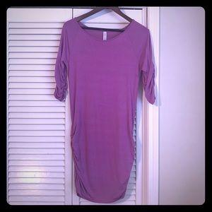 Purple scrunch shirt